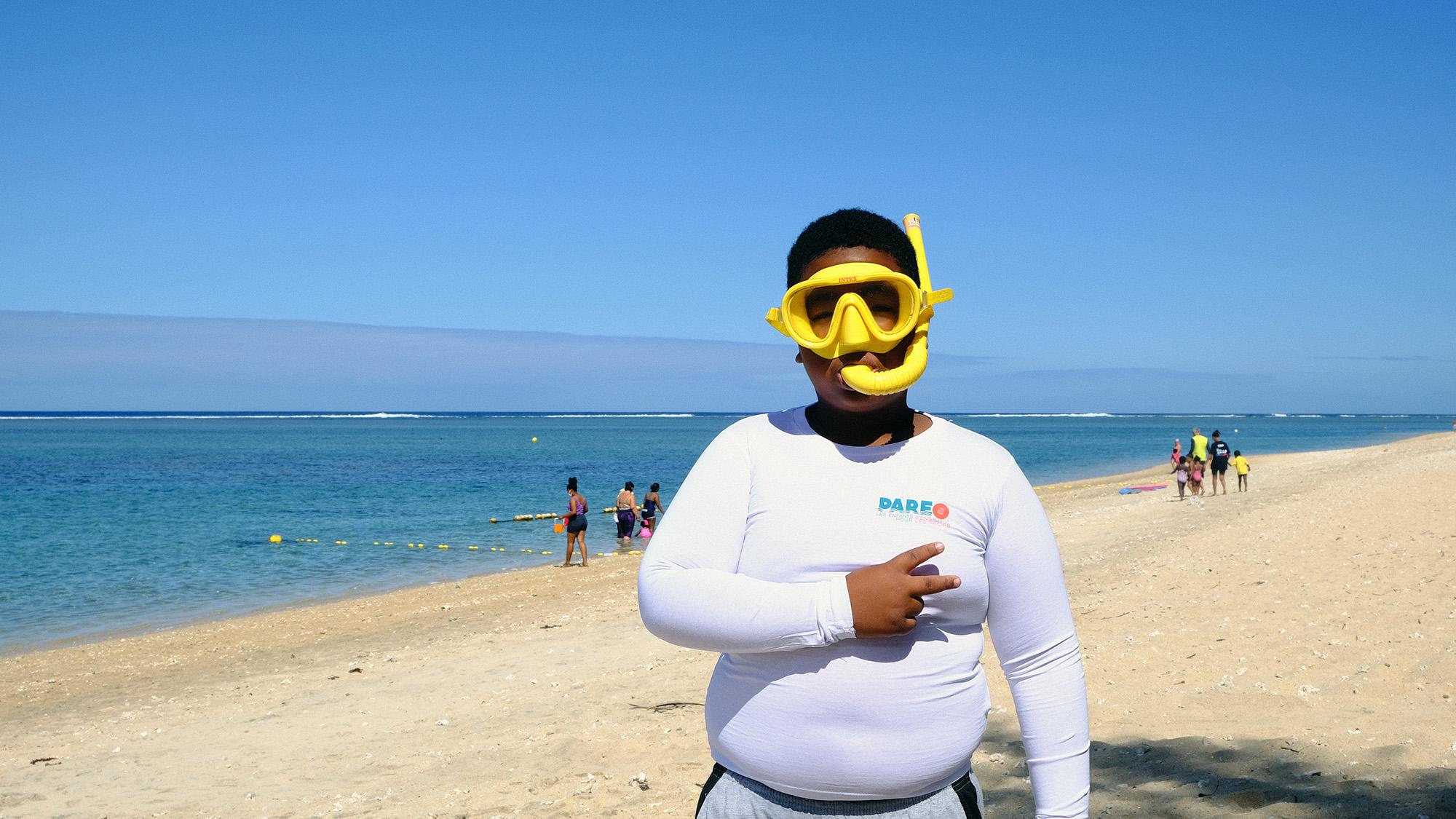 Le projet PAREO a été l'occasion d'emmener les enfants re-découvrir le récif corallien avec en palme/masque et tuba.