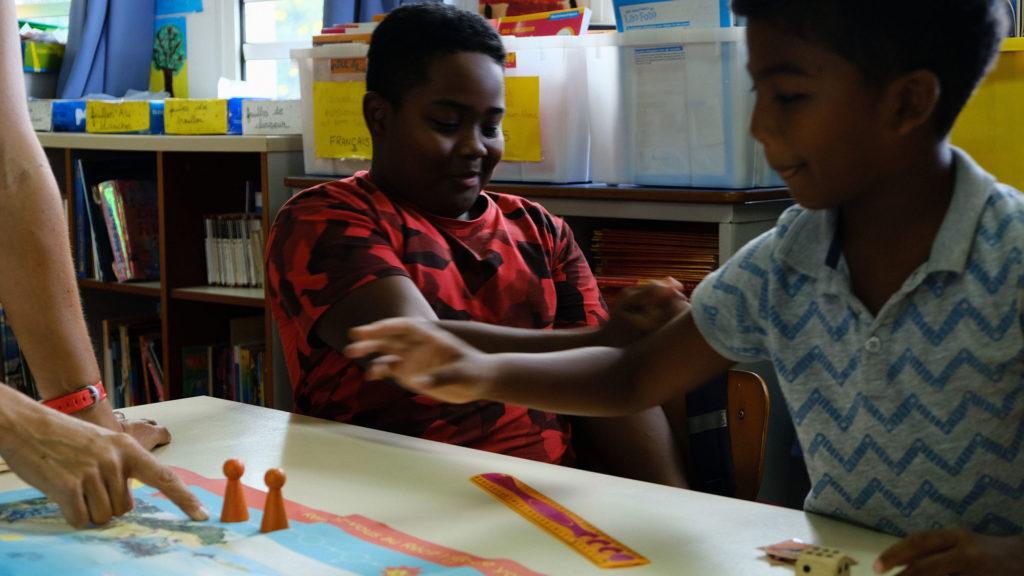 MARECO en action dans une classe de CM1 à l'ïle de la Réunion